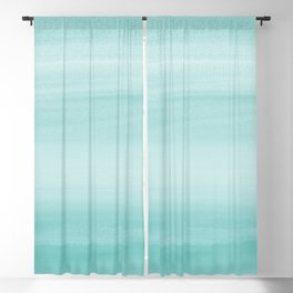 Touching Aqua Blue Watercolor Abstract #2 #painting #decor #art #society6 Blackout Curtain