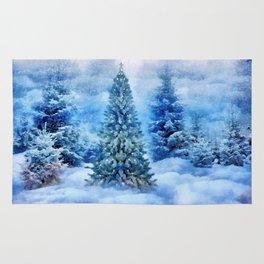 Christmas tree scene Rug