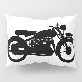 Motor Cycle Silhouette Pillow Sham