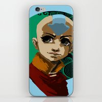 aang iPhone & iPod Skins featuring Aang Portrait by Alert Dynamics