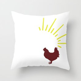 Animal Quotes Chicken Life Throw Pillow
