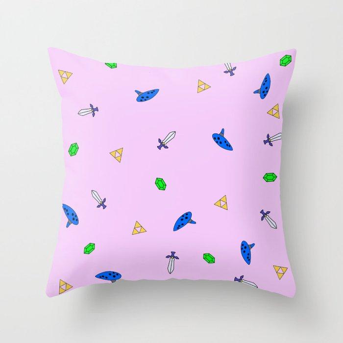 Legend of Zelda Pastel Print Throw Pillow