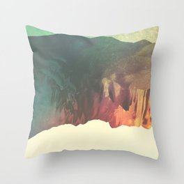 "Glitch art, ""Valley Of Flowers"" 2014 Throw Pillow"