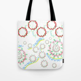 12 days of Christmas-Holly & Wreaths Tote Bag
