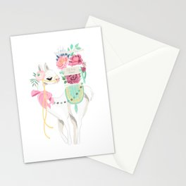 Llama & Florals Stationery Cards
