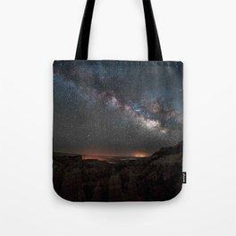 MILKY WAY OVER FAIRYLAND CANYON Tote Bag