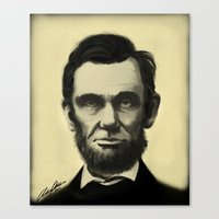 lincoln Canvas Prints featuring Lincoln by Austin Phillips