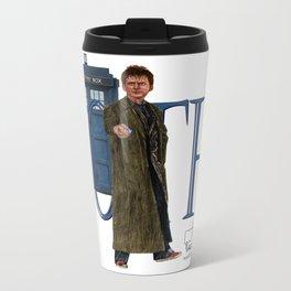 10th Doctor Metal Travel Mug