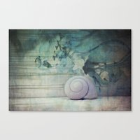 shell Canvas Prints featuring Shell by KunstFabrik_StaticMovement Manu Jobst
