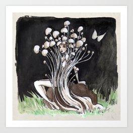 Empire of Mushrooms: Flammulina Velutipes Art Print