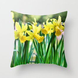 Daffodils for the Love of Spring! Throw Pillow