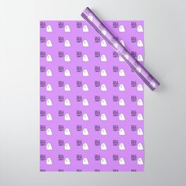 Grumpy Ghost Wrapping Paper
