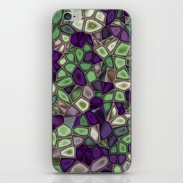 Fractal Gems 02 - Purples and Greens iPhone Skin