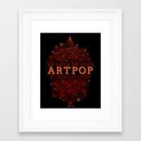 artpop Framed Art Prints featuring Artpop by Mario Ezquerra