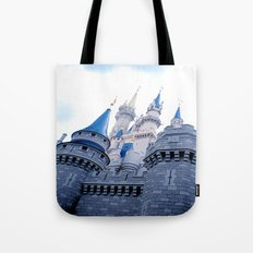 Disney Castle In Color Tote Bag