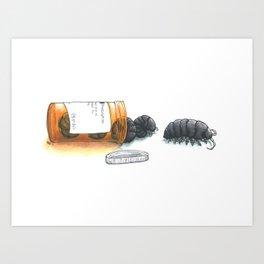 Pill bugs Art Print