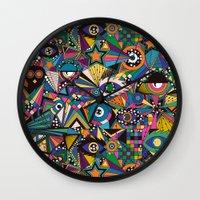 circus Wall Clocks featuring Circus by Naia Ceschin