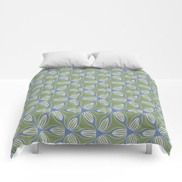 "GOOSEBERRY - 'blue and green should never be seen..."" Comforters"
