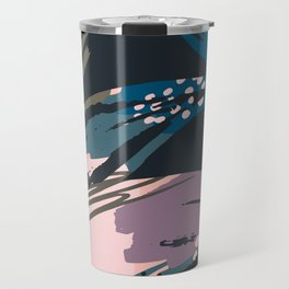 Abstract lavender pastel color creative brushstrokes Travel Mug