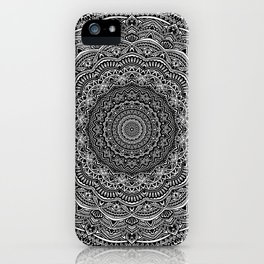 Zen Black and white mandala Sophisticated ornament iPhone Case