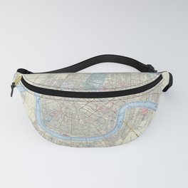 New Orleans Vintage Map Fanny Pack