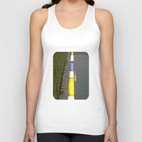 library Tank Tops featuring Library Line  by Ethna Gillespie