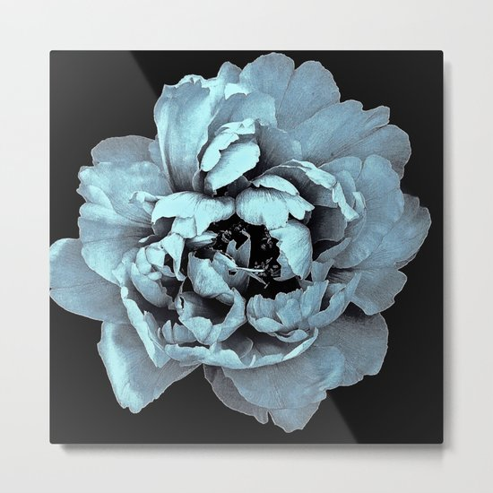 Blue Peony, Under The Floral Spell Metal Print