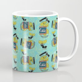The Pickle Thief (Blue) Coffee Mug