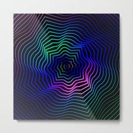 Hypnonotic geometric mandala Metal Print
