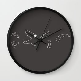 Dinosaur Disassembly - 2 Wall Clock