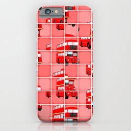 London Bus Pixel Puzzle iPhone Case