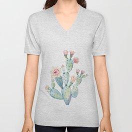 Cactus 2  White #society6 #buyart Unisex V-Neck