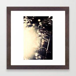 Gold in Black and White Framed Art Print