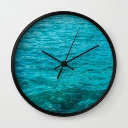 beautiful darken water with light leaks Wall Clock