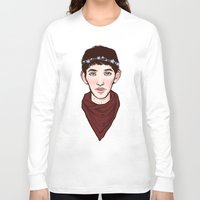 merlin Long Sleeve T-shirts featuring Merlin Flowercrown by Emma Ehrling