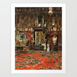 Mariano Fortuny's Studio In Rome - Digital Remastered Edition Art Print