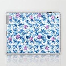 Ipomea Flower_ Morning Glory Floral Pattern Laptop & iPad Skin