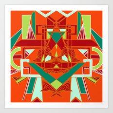 GeoLion Art Print