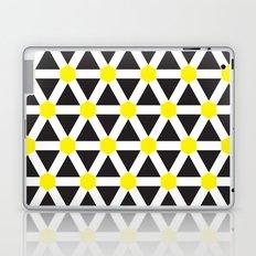 Yellow, white stripes geometric pattern Laptop & iPad Skin