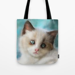The Blue Kitten Tote Bag