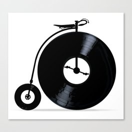 Penny Farthing With Vinyl Records Canvas Print
