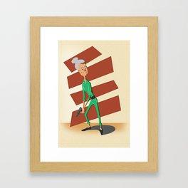 Time to retire Framed Art Print