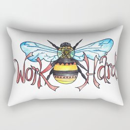 Work Hard Rectangular Pillow