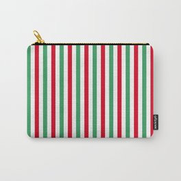 Christmas Small Even Stripes Carry-All Pouch