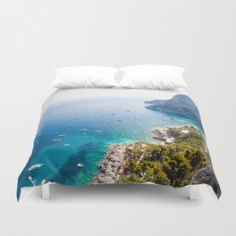 Capri, bay of Naples, Italy Duvet Cover