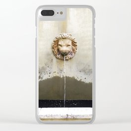 Three Lions Fountain Clear iPhone Case