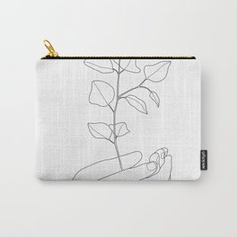 Minimal Hand Holding the Branch II Carry-All Pouch