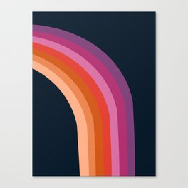 Tubular - retro throwback 70s style rainbow colorful trendy 1970's art decor Canvas Print