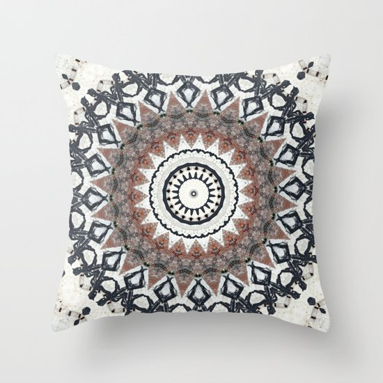 Graffiti Wall Kaleidescope Throw Pillow