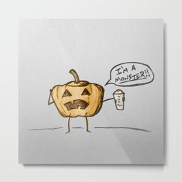 Pumpkin Spice Monster Metal Print